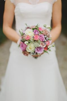 """Tissington Hall wedding - nice country wedding, summer feel..... """"While the over all colours on the day were soft and muted (navy traditional morning suits & soft dusky grey/powder blue bridesmaids dresses), she brought elements of colour through in her bouquet with lilacs, purples, peach and orange."""""""