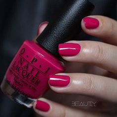 OPI Madam President. My fav! Lovely deep pink color.. <3