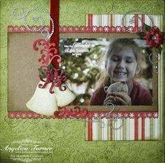 Heartfelt Creations | Green Poinsettia Cheer Bells Layout