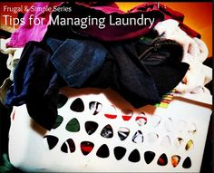 Tips for Managing & Organizing your laundry!
