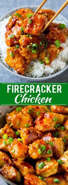 Firecracker chicken recipe asian chicken spicy chicken recipe spicy c New Recipes, Cooking Recipes, Healthy Recipes, Family Recipes, Recipes Dinner, Dessert Recipes, Easy Asian Recipes, Protein Recipes, Baked Chicken