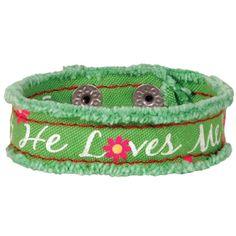 He Loves Me Cherished Canvas Bracelet