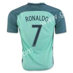 2016 European Cup Portugal RONALDO Away Green Thailand Soccer Jersey Soccer  Shorts f915c662b459d