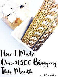 My September Blog Income Report! Here's how I made over $1500 this month doing something I love to do.