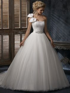 Wedding Dress Style Annika Ball Gown Straight Neckline Beading Tulle OSW2071 $175