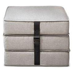 Sleeper Ottoman Slate Gray - Room Essentials™