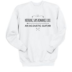 Nothing Says Romance Like an Acoustic Guitar Unisex Sweatshirt 5sos... (€23) ❤ liked on Polyvore featuring tops, hoodies, sweatshirts, black, women's clothing, long length shirts, woven shirts, checkered shirt, crew-neck sweatshirts and cuff shirts