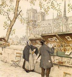 The Old Bibliophile. Paris (1926).  Tavik Frantisek Simon  (Czech, 1877-1942)