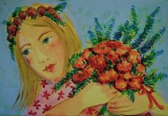 Christabel Blackman Valencian Love  acrylic on canvas Copyright © Christabel Blackman