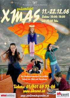 """Another poster from 18 years of Xmas Project. """"XMAS 3"""" from the year 2008 with other young performers, who became stage props in the years after. Sophia Gorgi as well as Annkathrin Naderer and Lukas Ruziczka.  #dancing #tanz #singing #gesang #acting #musical #xmasprojekt #voices #beautiful #instadaily #tbt #bühne #kids #kinder #jugend #talent #happy #passion #theater #love #fun #christmas #weihnachten #love #instalike #like #webstagram @performingcenteraustria"""