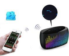 Music LED Spectrum Wireless Bluetooth NFC Dancing Speakers