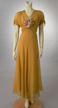 Yellow 1930's dress from Woodland Farms Vintage.