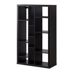 KALLAX, Shelf unit, black-brown