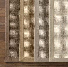 Belgian Looped Wool Sisal Rug, natural wool and pure linen