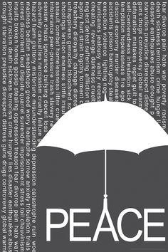 Peace Umbrella - Poster