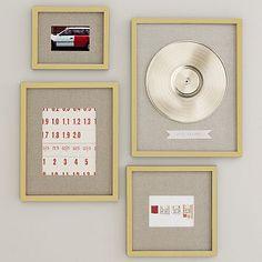 Gallery in a Box Frame Set - Gold Leaf #westelm