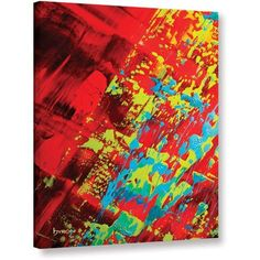Byron May Springtime Celebration Gallery-Wrapped Canvas Wall Art, Size: 36 x 48, Blue