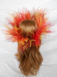 Fire Crown Phoenix Dragon King Headpiece Fairy Tiara by FlowerFair