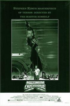 MAXIMUM OVERDRIVE is een film van schrijver Stephen King uit 1986. Het is een sterke Stephen King verfilming waar machines hun eigen weg gaan en in opstand komen tegen de mensheid. Dit alles veroorzaakt door de komeet Rhea-M die rond de aarde cirkelt. Een groep mensen raakt verwikkeld in een keihard gevecht met op hol geslagen trucks en gaan op zoek naar de oplossing. Acteurs John Short ,Ellen McElduff &Laura Harrington