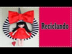Guirnalda inspirada en las Gorjuss - Patrones gratis Free Pattern, Snow White, Christmas Ornaments, Disney Princess, Holiday Decor, Diy, Youtube, Fashion, Baby Dolls