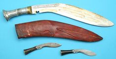 Fine Early 20th C. Nepalese Kukri, WWII Bring-back