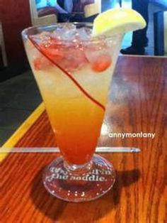 Freckled Lemonade ( like Red Robins)  Can be made with light lemonade.