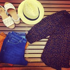 Top off a summer look with a hat and some jeans from Canyon River Blues!