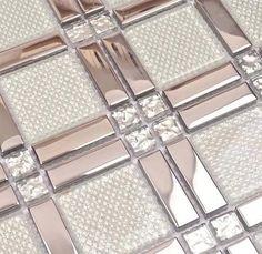 strip stailess steel mixed square glass & diamond for bathroom shower wall mosaic tiles black kitchen backsplash tiles