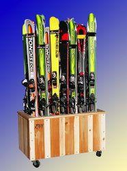 Floor Ski Racks For Display And Storage