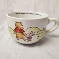 Disney Winnie The Pooh Oversized Coffee Soup Mug Jumbo Cup Disney Coffee Mugs, Cute Coffee Mugs, Cute Mugs, Coffee Cup, Winnie The Pooh Mug, Disney Winnie The Pooh, Pooh Bear, Disney Kitchen, Disney Dining