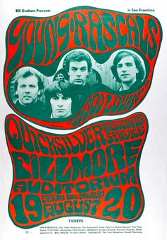 Young Rascals, Quicksiler - concert poster by Wes Wilson - 1966.