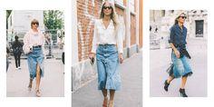 3 Ways To Style A Denim Skirt   sheerluxe.com