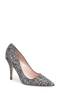 Stepping out in silver glitter pumps this season. Love them!