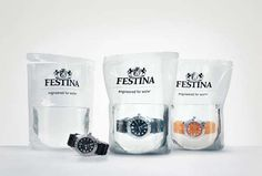 these #waterproof watches are packaged in water - brilliant!!