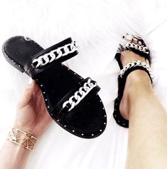 Heidi is the Sandal of the Summer ! #summer #sandals #slider #chain #shoes