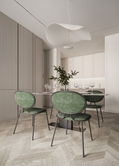 CGI: Multi-colored glass on Behance Dinning Chairs, Table And Chairs, Dining Table, Home Design Decor, House Design, Interior Design, Home Decor, Classic Living Room, Classic House