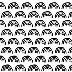 rainbow black and white cool kids trendy scandi black and white rainbow circles scallop fabric by charlottewinter on Spoonflower - custom fabric Black And White Picture Wall, Black And White Background, Black And White Prints, Black And White Aesthetic, Black And White Design, Black N White, Black And White Pictures, Black White Pattern, Black And White Wallpaper Iphone