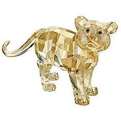 """SWAROVSKI SILVER CRYSTAL """"2010 TIGER CUB STANDING"""" MINT IN BOX 1016677 in Pottery, Porcelain & Glass, Glass, Crystal/ Cut Glass 