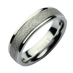 6mm Cobalt Sparkle Wedding Ring Band - Cobalt Rings at Elma UK Jewellery