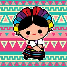 así Mexican Party, Mexican Style, Mexican Pinata, Mexican Paintings, Mexico Art, Mexican Designs, Kawaii, Folk Art, Art Projects