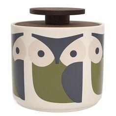 Orla Kiely Jar 1Ltr | Owl £25.00 - Kitchen & Dining - Orla Kiely Ceramics ILLUSTRATED LIVING