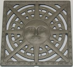 A classic motif adapted as a catch basin grate. Grate only - Fits NDS Catch Basin Series Floor Drains, Garden Inspiration, Garden Ideas, Iron Age, Ranch Style, Mid Century Design, Cast Iron, Mid-century Modern, Home And Garden
