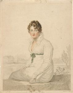 William Blake (1757-1827), Portrait of Mrs. Q (Mrs. Harriet Quentin). Upon seeing this portrait in London, Austen remarked that this was just as she imagined Mrs. Bingley (Jane Bennet who marries Charles Bingley at the conclusion of Pride and Prejudice), 1820, Gift of Charles Ryskamp in memory of Michael S. Currier, 1998; 1998.36:4, Photography by Schecter Lee