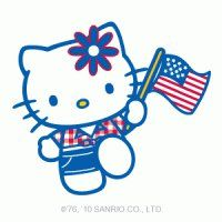 hello kitty fourth of july coloring pages