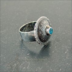 Strukova Elena - авторские украшения - Перстень с апатитом