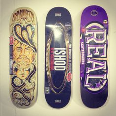 Collection of real nice Real Skateboards