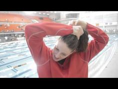Missy Franklin: How to Make a Swimmer Bun-- she explains it herself, too! Love it, love her!!