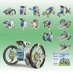 14 in 1 Solar Robot Educational Solar Robot Kit -- See this great product.