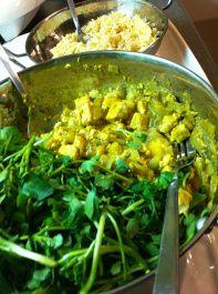 Caribbean Salad with Tofu, Mango, & Watercress #vegan