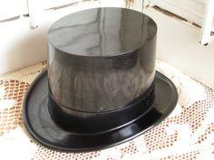 Vintage Rare Bakelite Black Top Hat Watch Box by TheVintageMoment